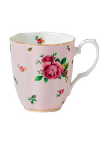 New country roses pink vintage ceramic mug