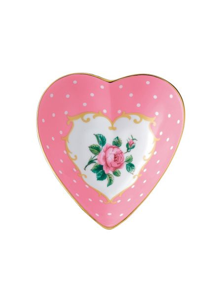 Royal Albert Cheeky pink ceramic heart tray