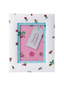 Rose buds small fabric photo frame 15.2cm x 10.1