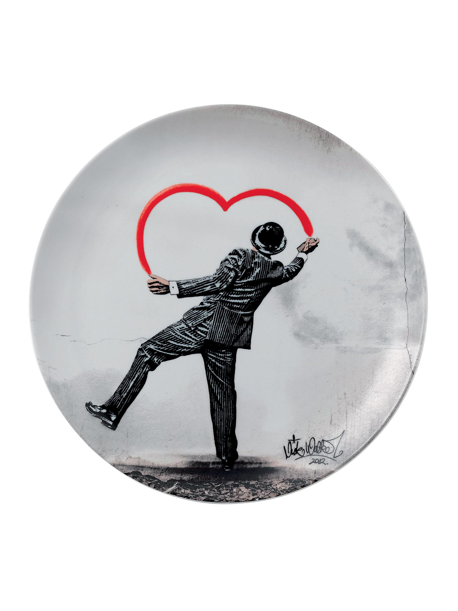 Limited edition nick walker ceramic plate love va