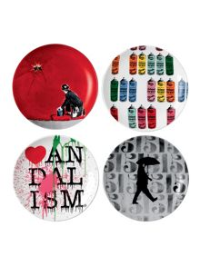 Limited edition nick walker set of 4 ceramic plat