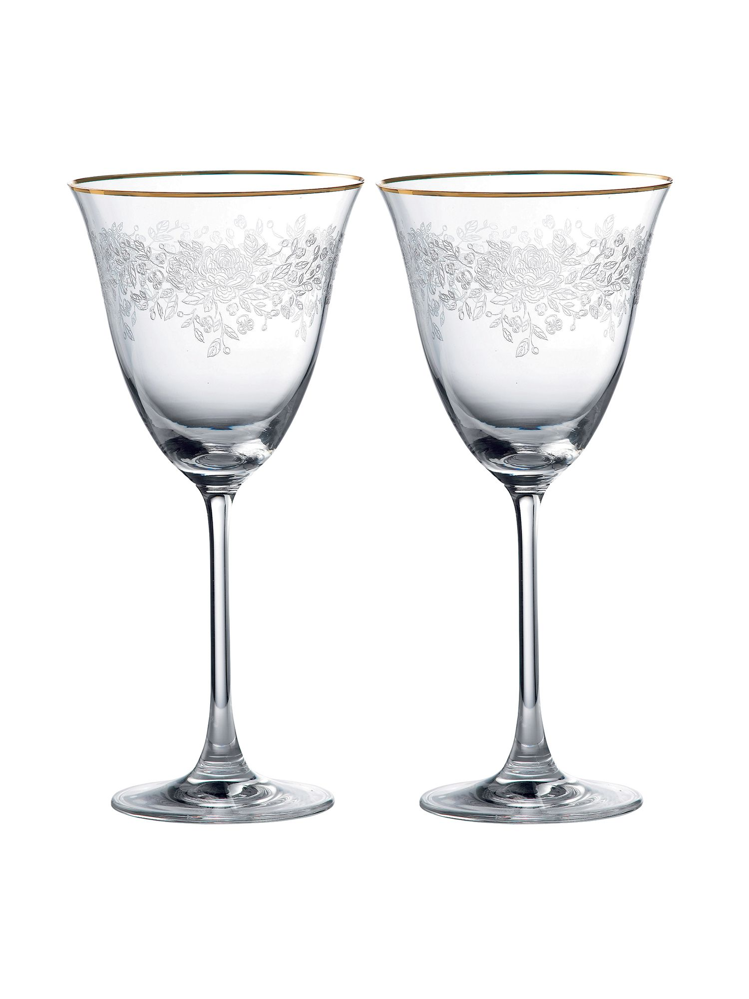 Set of 2 crystal Goblets