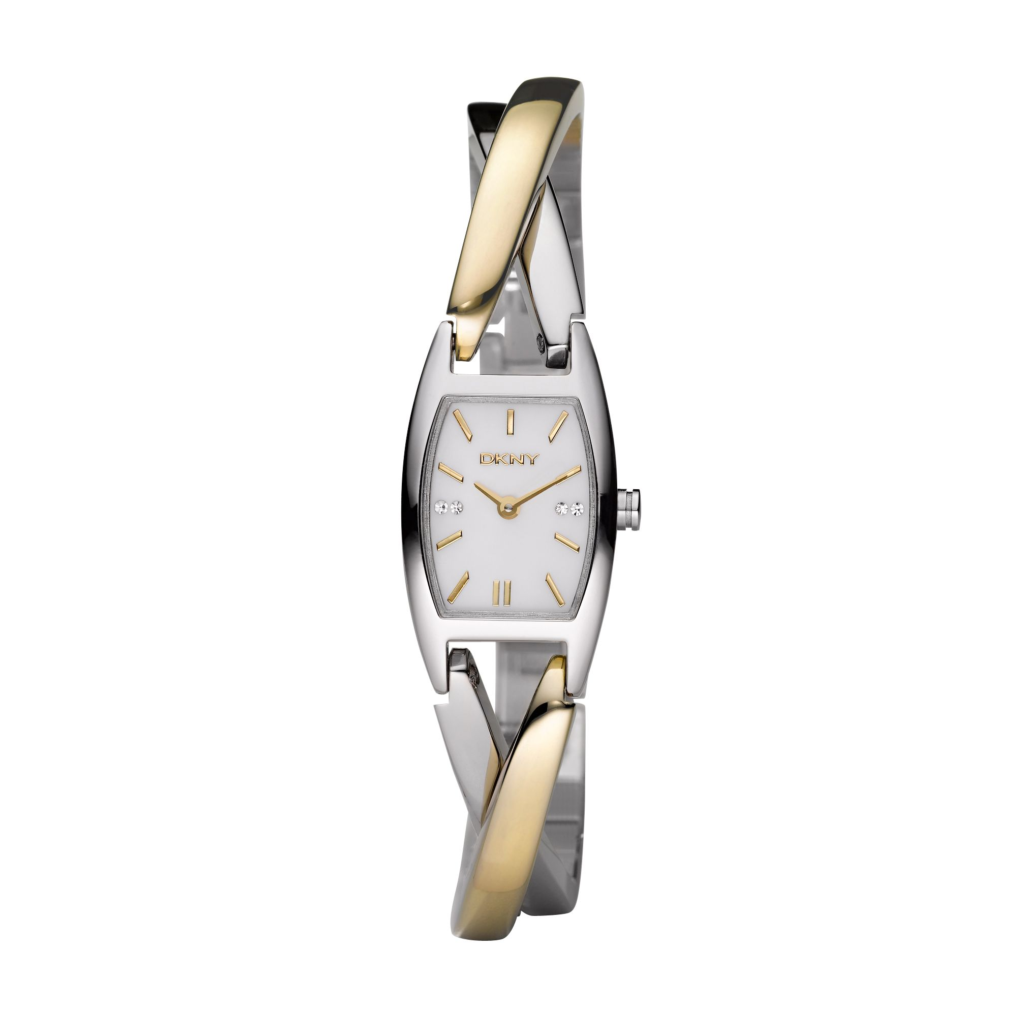NY4634Essential Silver Gold Ladies Bracelet Watch