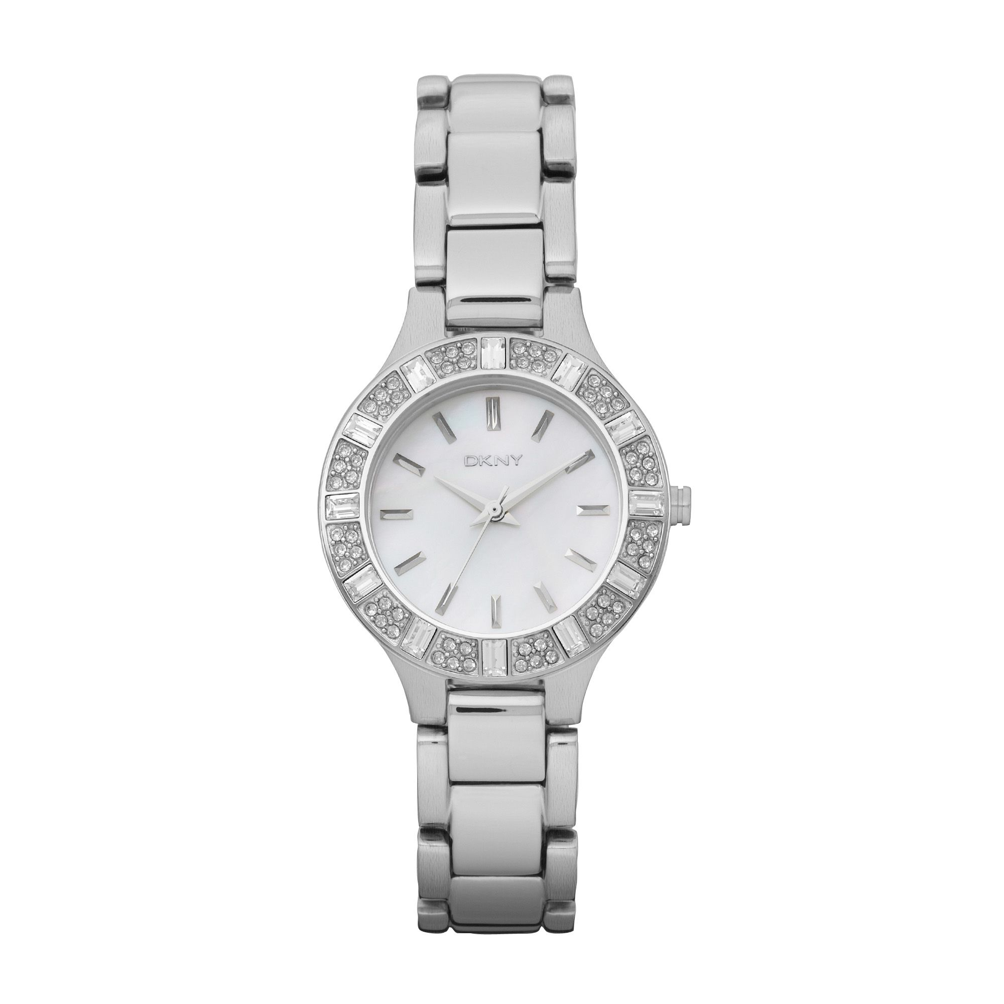 NY8485 Glitz Silver Ladies Bracelet Watch