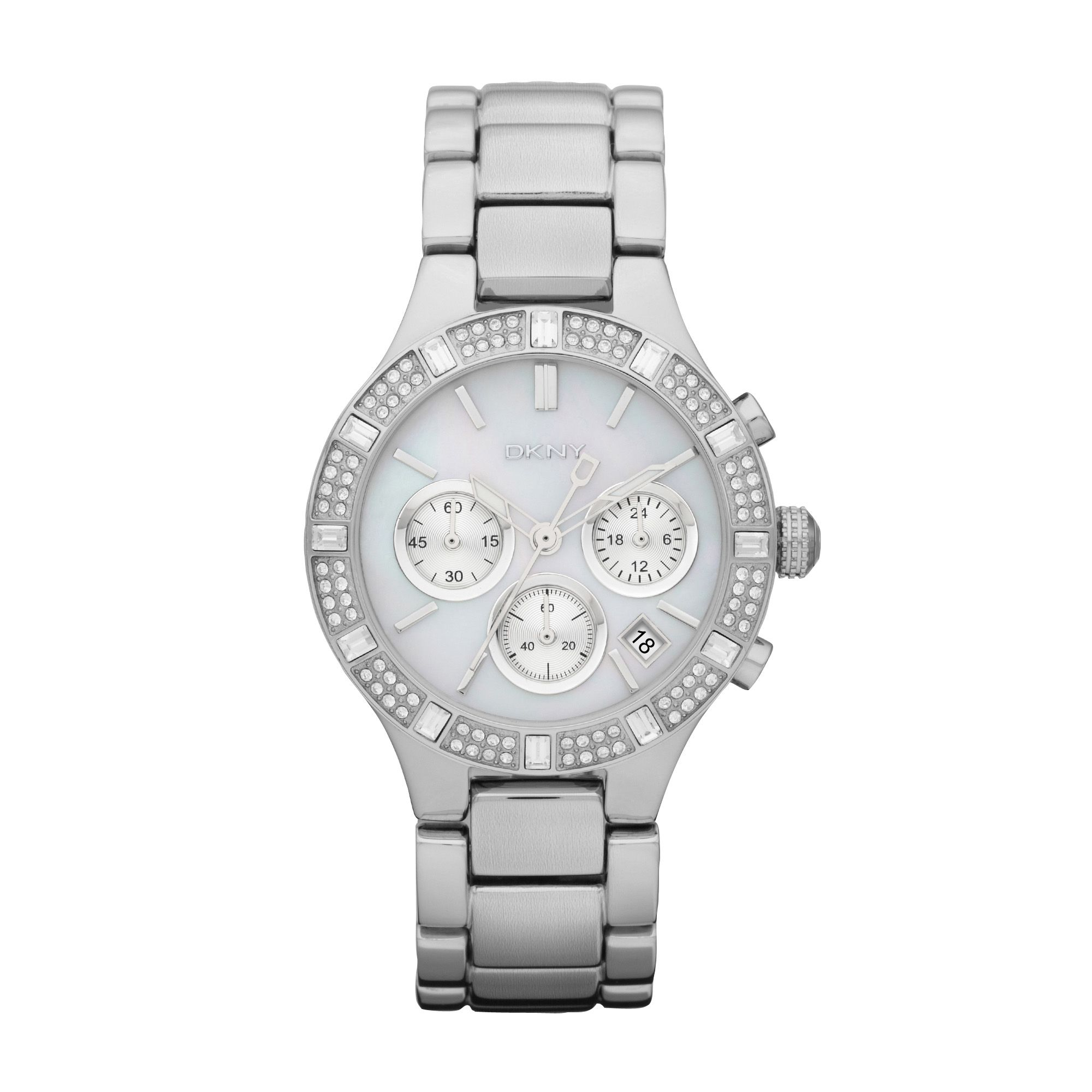 NY8507 Glitz Silver Ladies Bracelet Watch