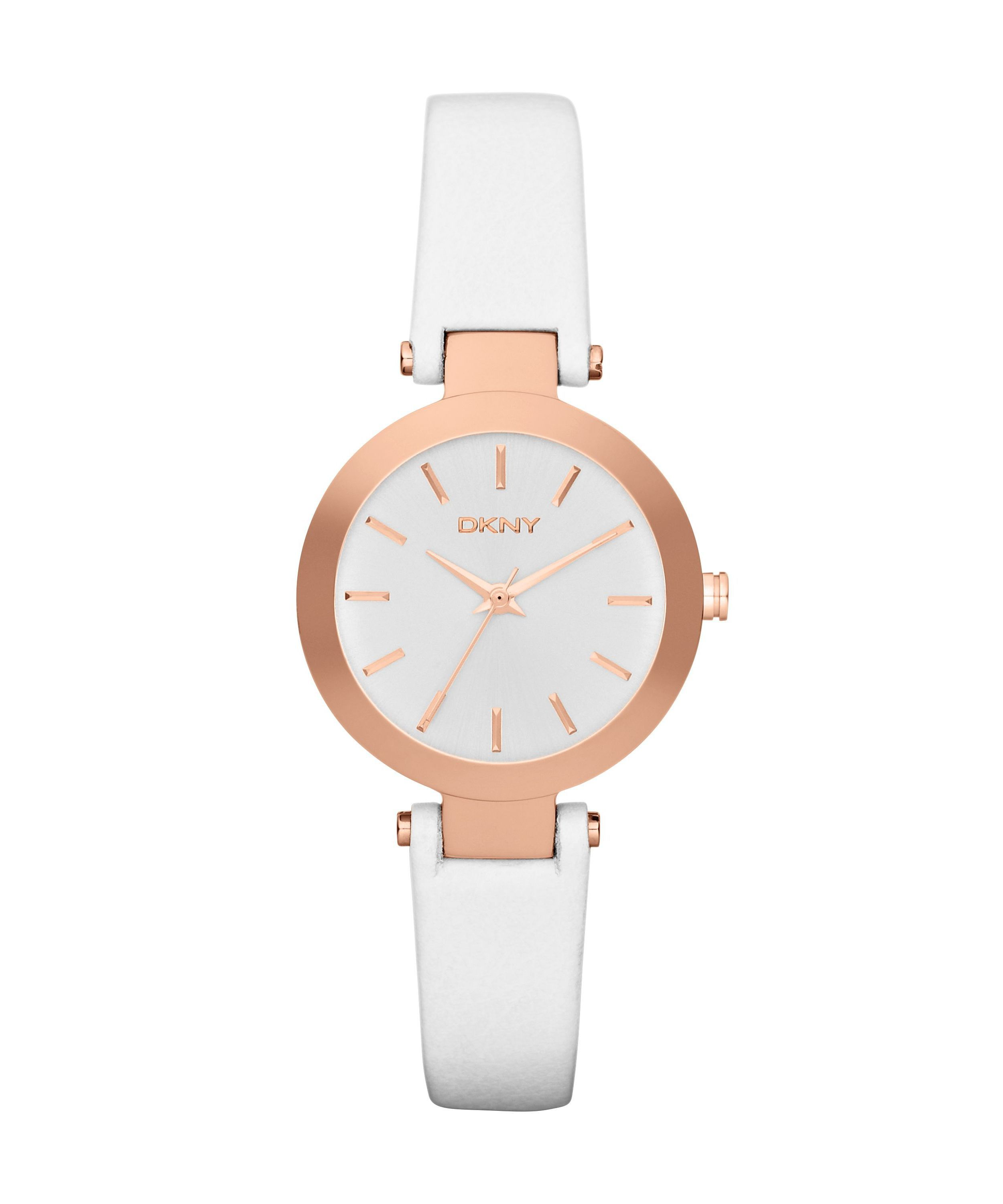 NY8784 Essentials white leather ladies watch