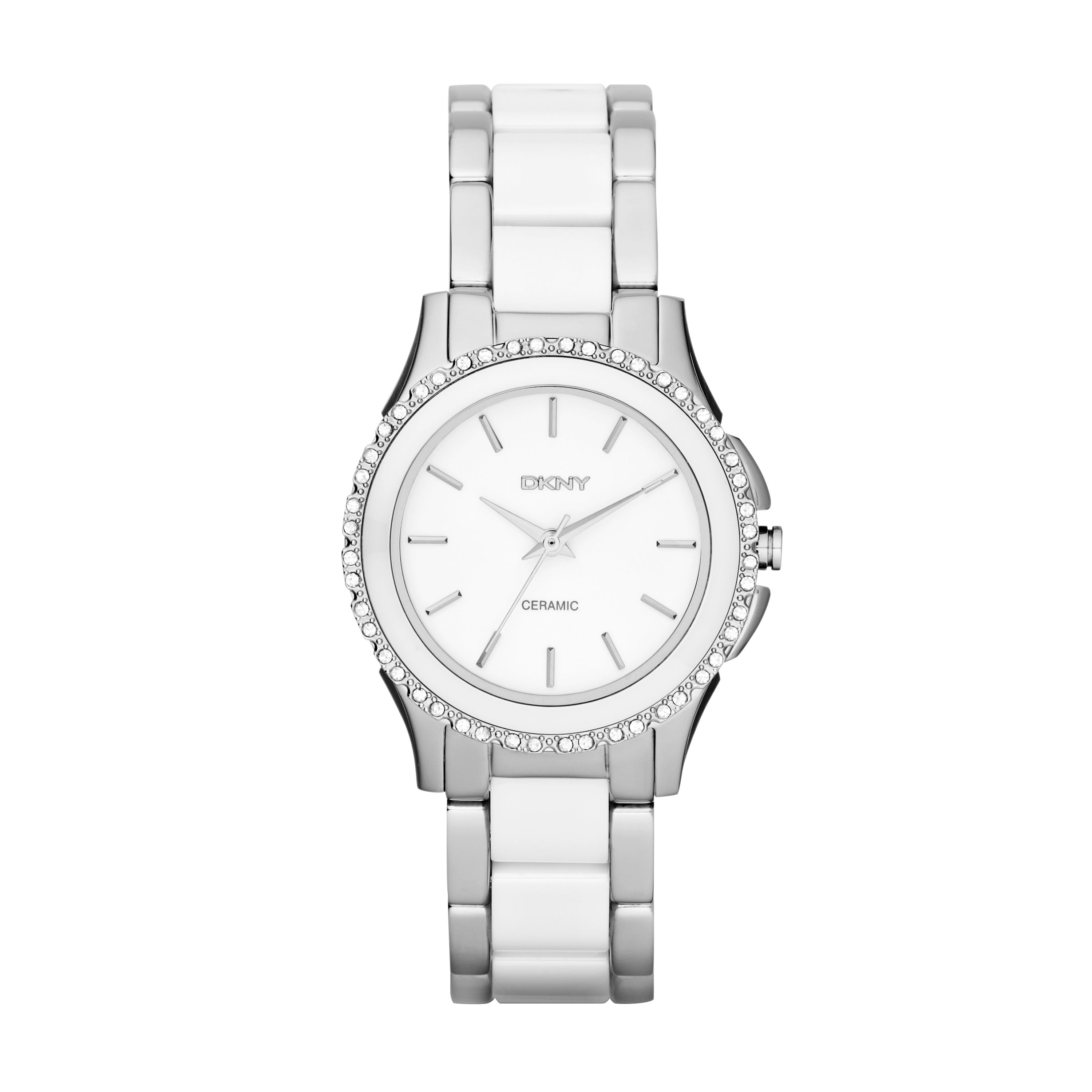 NY8818 Ceramic White Ladies Bracelet Watch