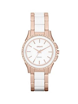 NY8821 Ceramic White Ladies Bracelet Watch