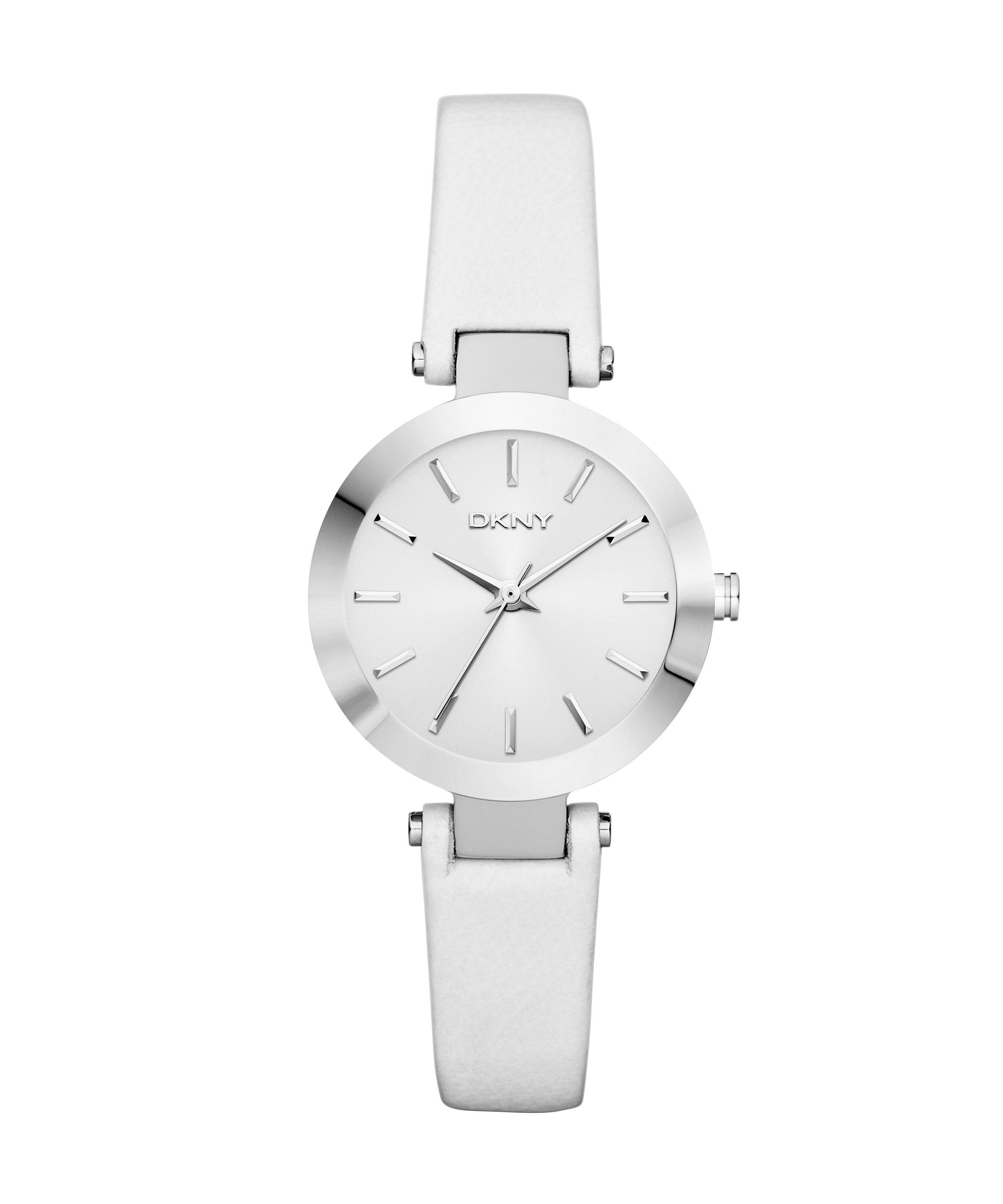 NY8782 Essentials white leather ladies watch
