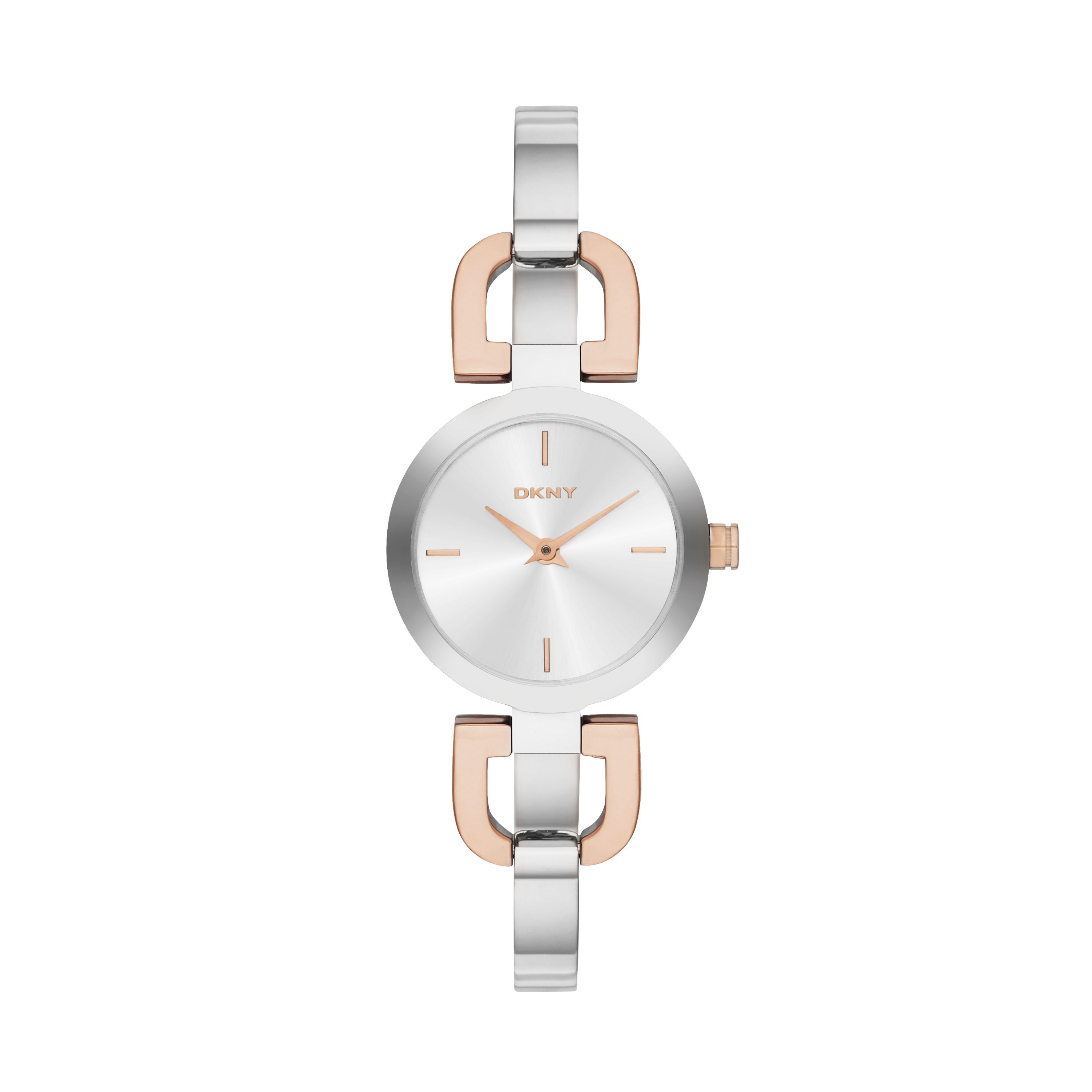 NY2137 Chic Silver Rose Ladies Bracelet Watch