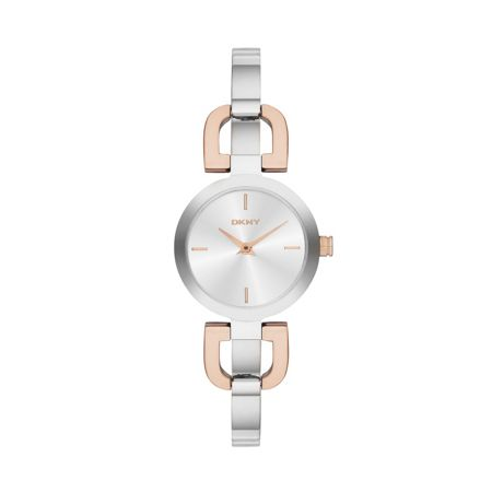 DKNY NY2137 Chic Silver Rose Ladies Bracelet Watch
