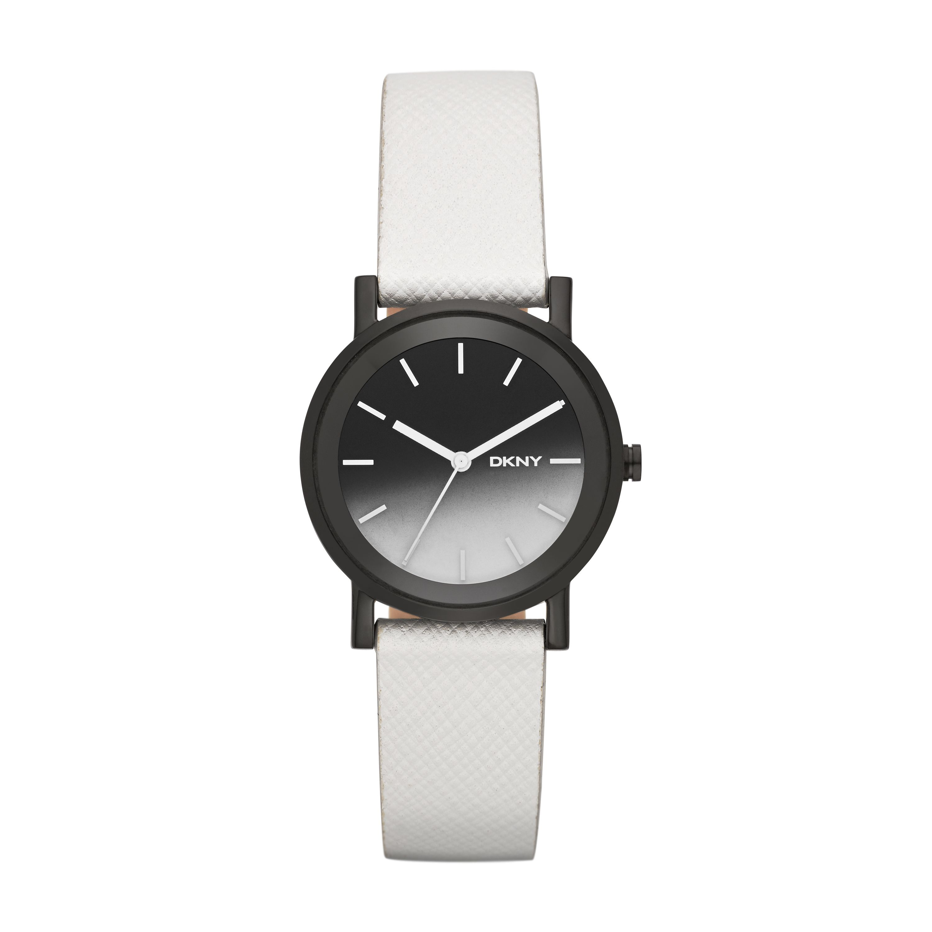 NY2185 Edge ladies white leather watch
