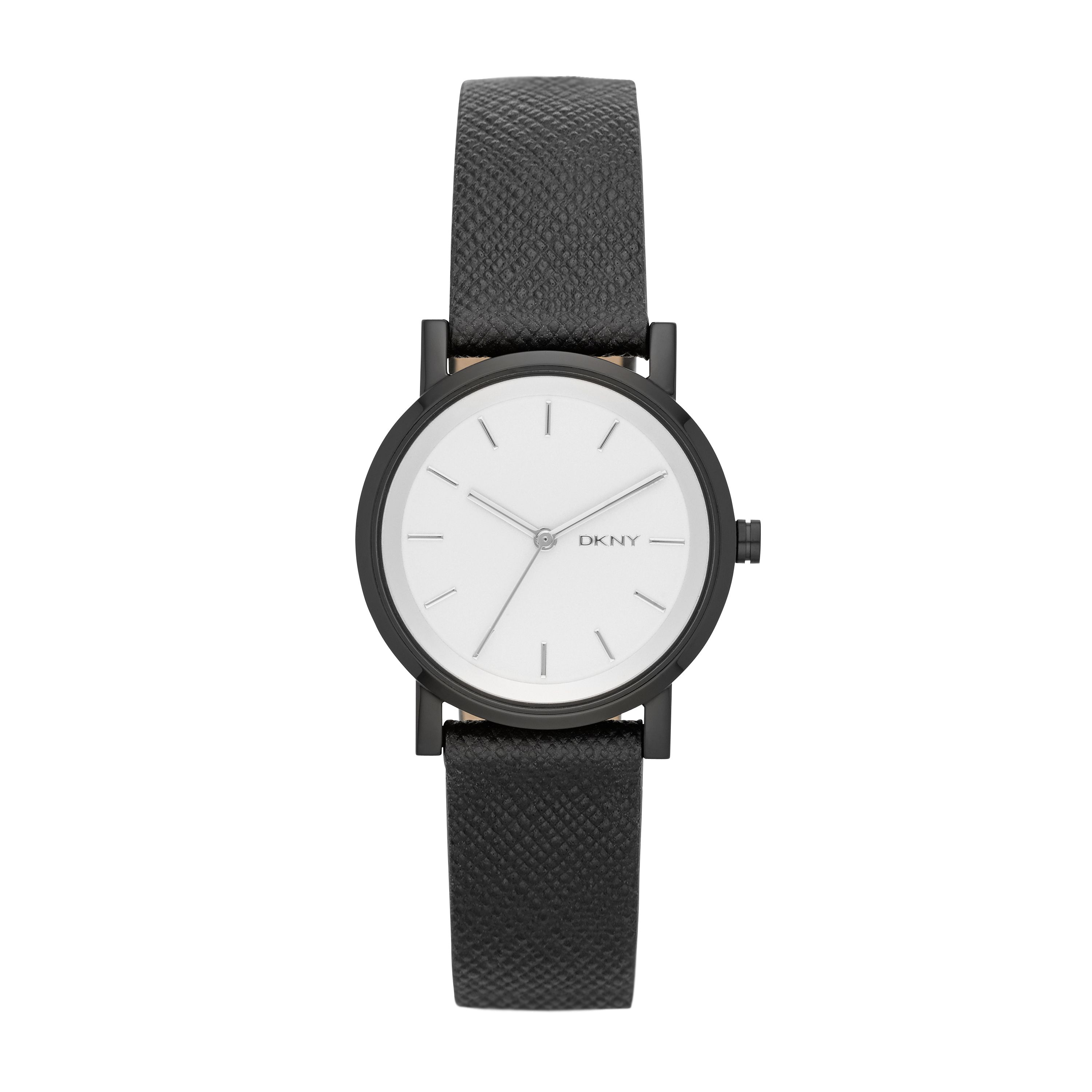 NY2186 Edge ladies black leather watch
