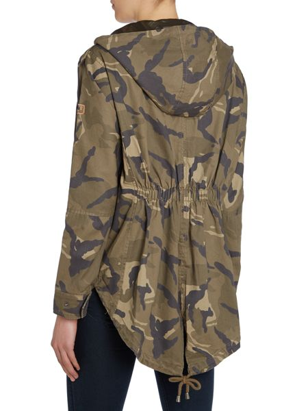 Halifax Traders Camouflage drawcord waist parka