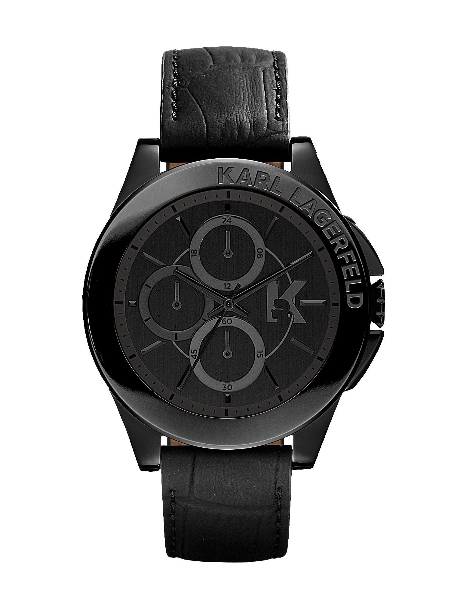 KL1406 Energy Black Mens Leather Watch