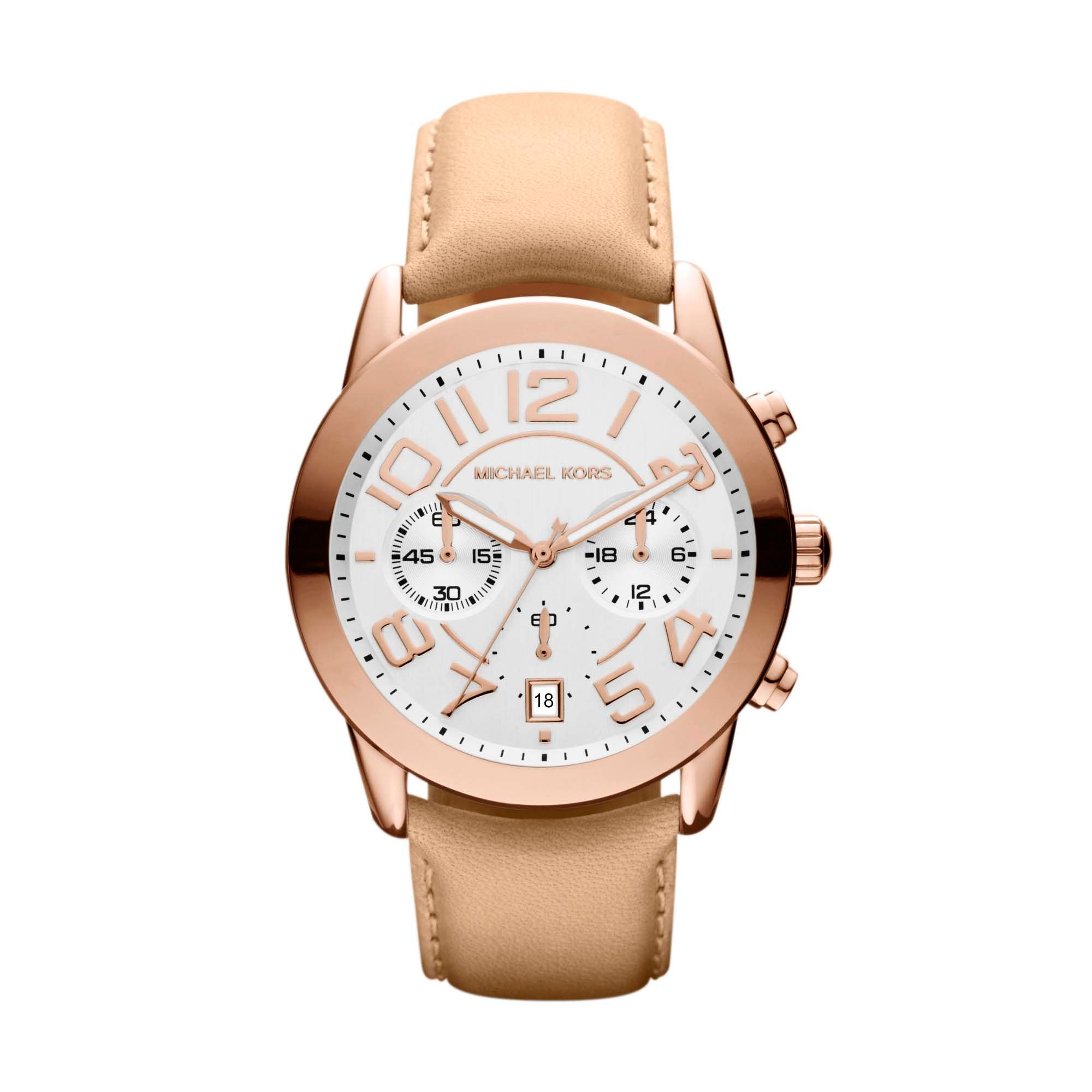 MK2283 nude genuine leather ladies watch