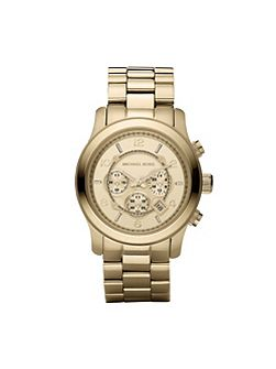 MK8077 Runway Gold Oversized Bracelet Watch
