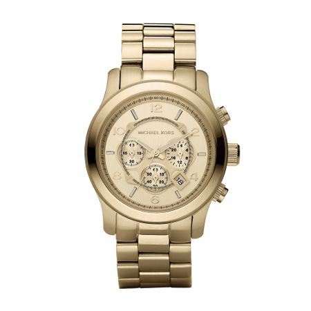 Michael Kors MK8077 Runway Gold Oversized Bracelet Watch