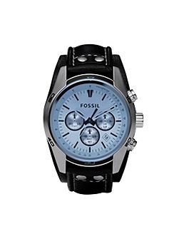 Fossil CH2564 Coachman Black Leather Mens Watch