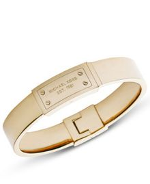 Michael Kors Heritage Gold Plaque Hinge Bangle