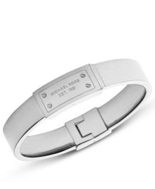 Michael Kors Heritage Silver Plaque Bangle