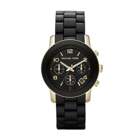 Michael Kors MK5191 Runway Gold Black Ladies Bracelet Watch