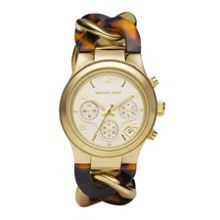 MK4222 Runway Ladies Chrono Tort Bracelet Watch