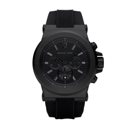 Michael Kors MK8152 Dylan Black Silicone Mens Watch