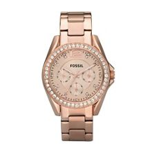 Fossil Es2811 riley ladies rose gold bracelet watch