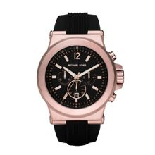 Michael Kors MK8184 Dylan Rose Gold and Black Mens Watch