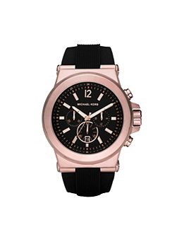 MK8184 Dylan Rose Gold and Black Mens Watch