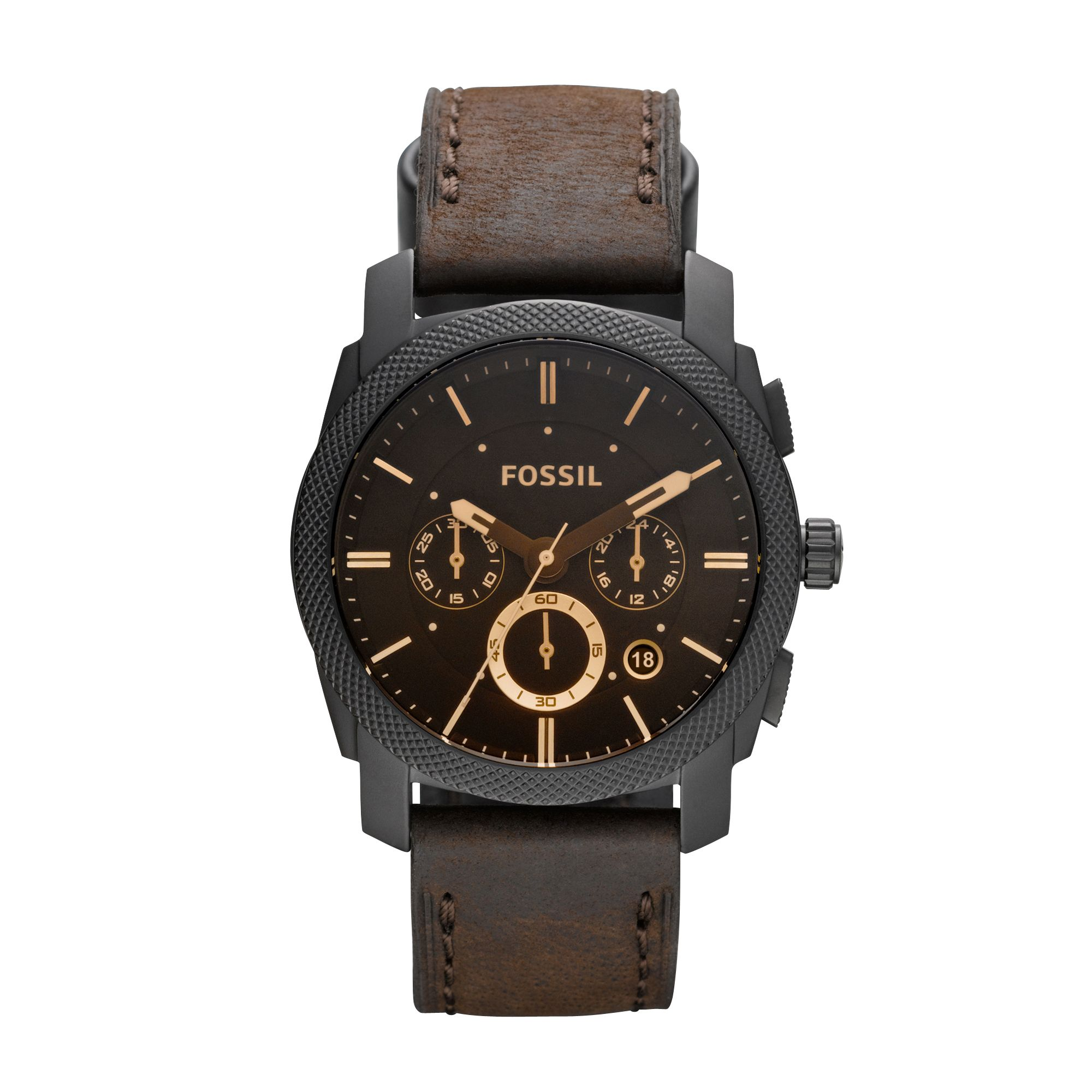 Fs4656 machine gents chronograph leather watch