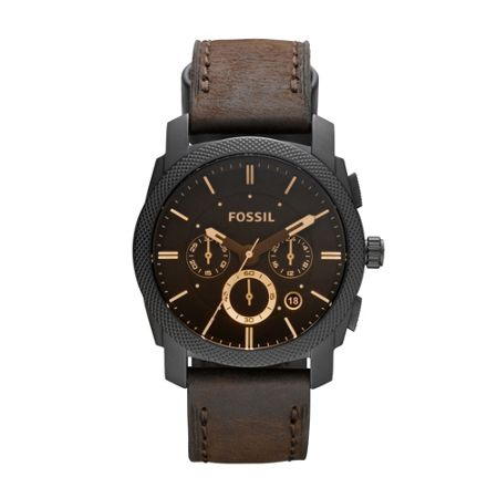 Fossil Fs4656 machine gents chronograph leather watch