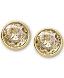 Brilliance Gold Clear Crystal Studs