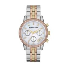 Michael Kors MK5650 Ritz Tri Tone Ladies Bracelet Watch