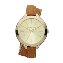 Michael Kors MK2256 Runway Gold Tan Leather Ladies Watch