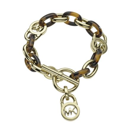 Michael Kors Heritage Gold and Tort Chain Bracelet