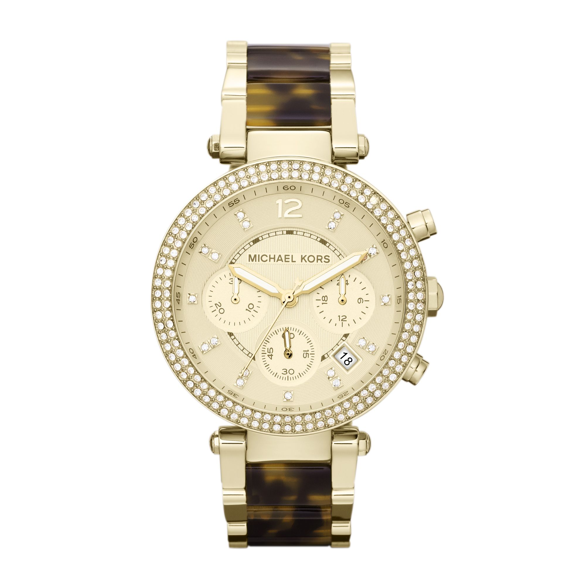 MK5688 Parker Gold Tortoise Ladies Watch