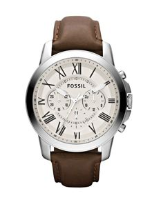 FS4735 Grant Brown Leather Mens Watch