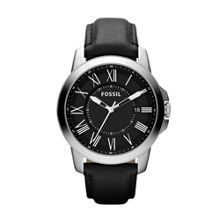 FS4745 Grant Black Leather Mens Watch