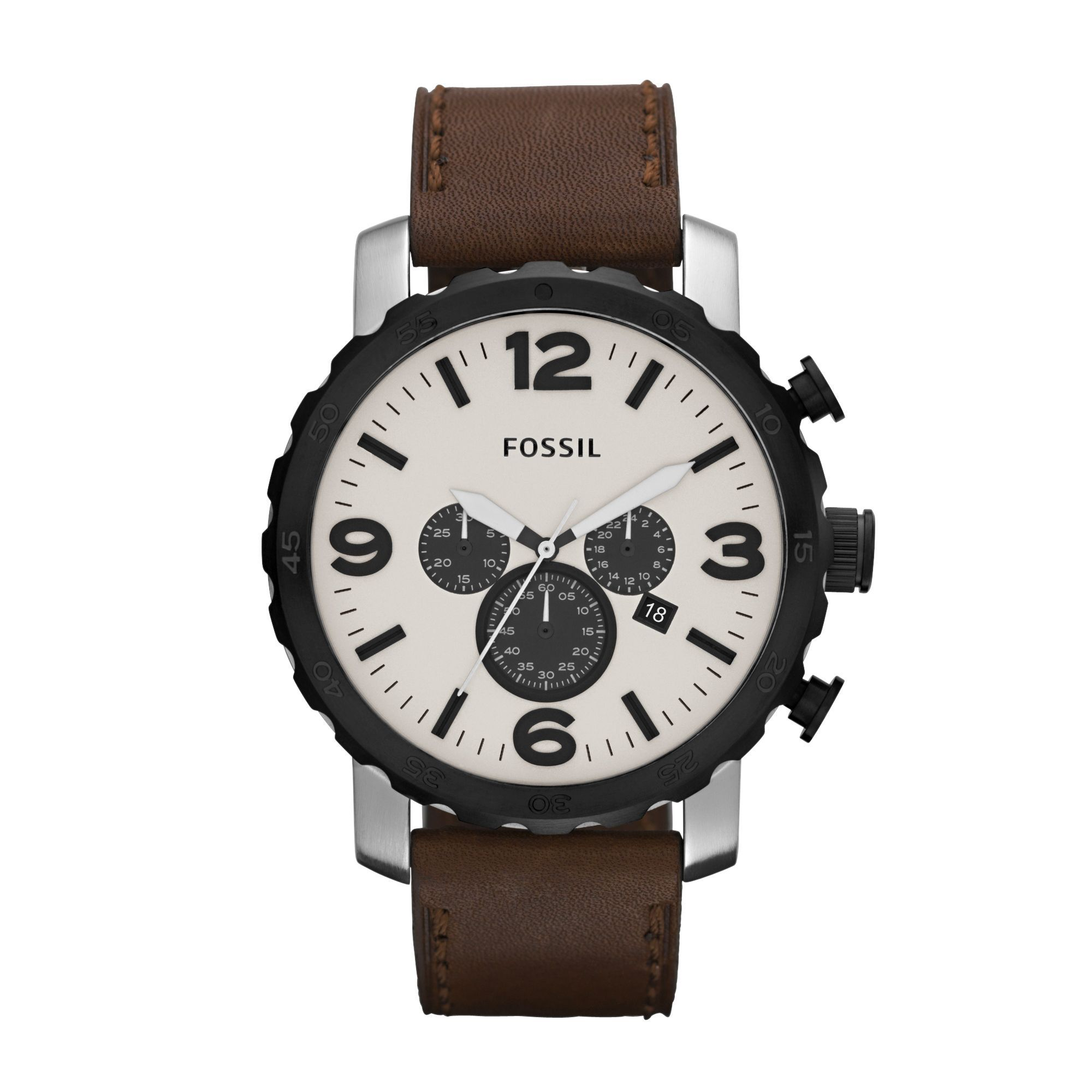 JR1390 Nate Brown Leather Mens Watch