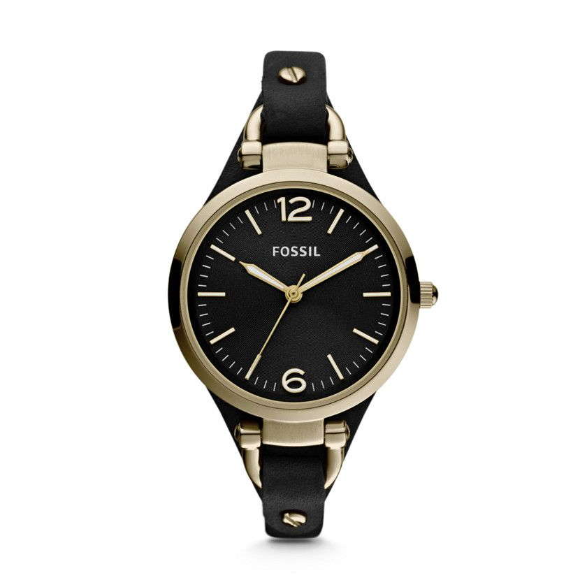 ES3148 Georgia Black Leather Ladies Watch