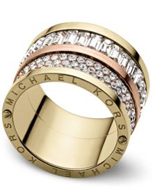 Brilliance Pave Barrel Ring - Ring Size O - S/M
