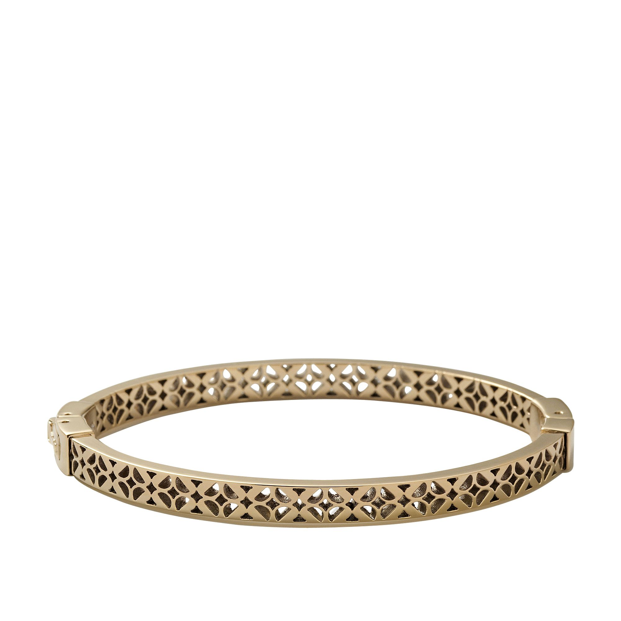 Jf00098710 Ladies gold iconic Bangle bracelet