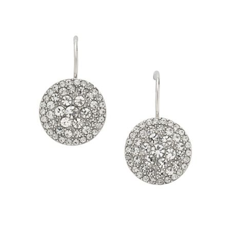 Fossil Jf00134040 Ladies silver iconic glitz earrings