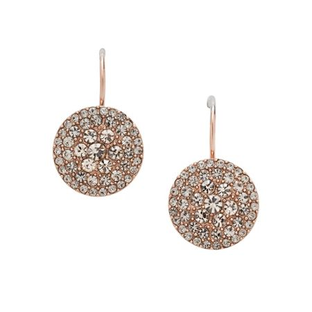 Fossil Jf00135791 Ladies rose iconic glitz earrings