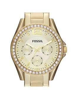 ES3203 Riley Ladies Gold Glitz Bracelet Watch