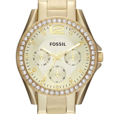 Fossil ES3203 Riley Ladies Gold Glitz Bracelet Watch