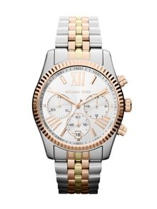 Michael Kors MK5735 Lexington Tri Tone Ladies Watch