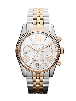 MK5735 Lexington Tri Tone Ladies Watch